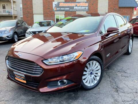 2016 Ford Fusion Energi for sale at Somerville Motors in Somerville MA