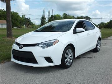 2014 Toyota Corolla for sale in Lake Worth, FL