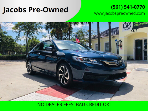 2017 Honda Accord LX-S for sale at Jacobs Pre-Owned in Lake Worth FL