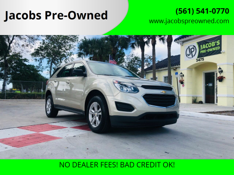 2016 Chevrolet Equinox LS for sale at Jacobs Pre-Owned in Lake Worth FL