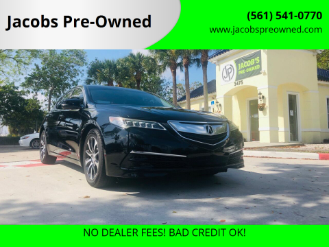 2015 Acura TLX w/Tech for sale at Jacobs Pre-Owned in Lake Worth FL