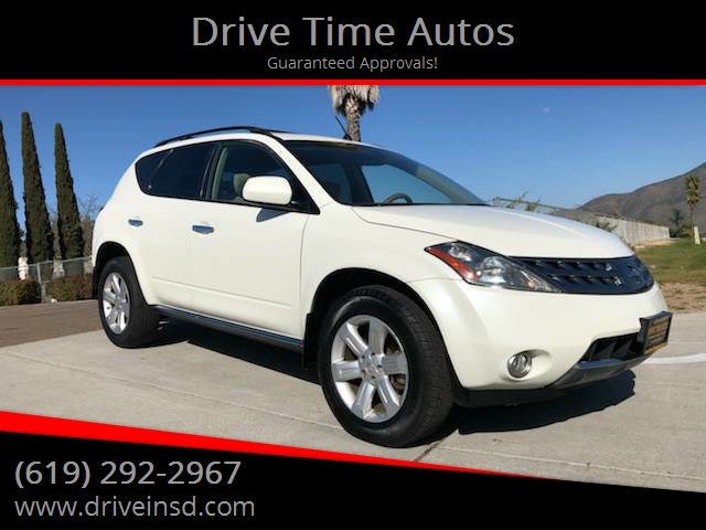 2007 Nissan Murano For Sale At Drive Time Autos In Spring Valley CA