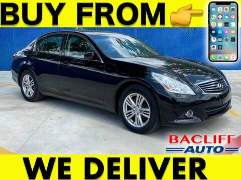 2013 Infiniti G37 Sedan for sale at Bacliff Auto in Bacliff TX