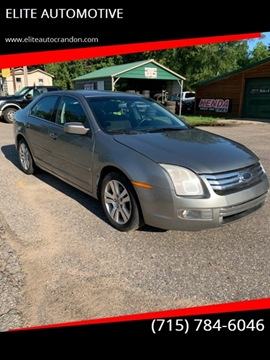 2008 Ford Fusion for sale at ELITE AUTOMOTIVE in Crandon WI