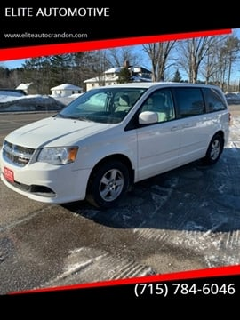2012 Dodge Grand Caravan for sale at ELITE AUTOMOTIVE in Crandon WI