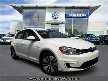 2016 Volkswagen e-Golf for sale in Irvine, CA