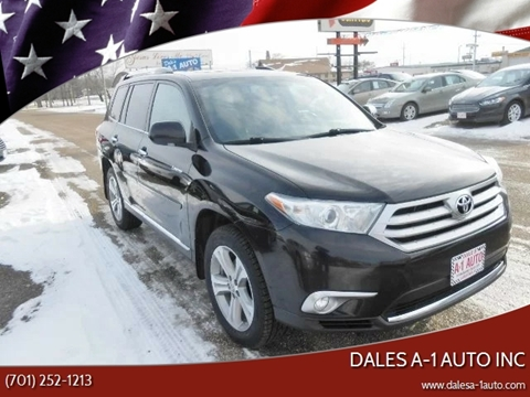 2012 Toyota Highlander for sale at Dales A-1 Auto Inc in Jamestown ND