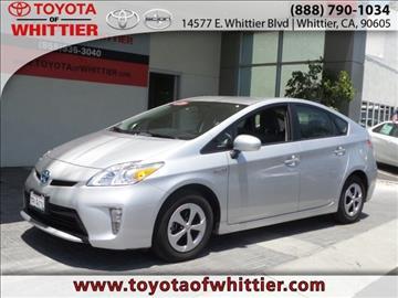 2015 Toyota Prius for sale in Whittier, CA