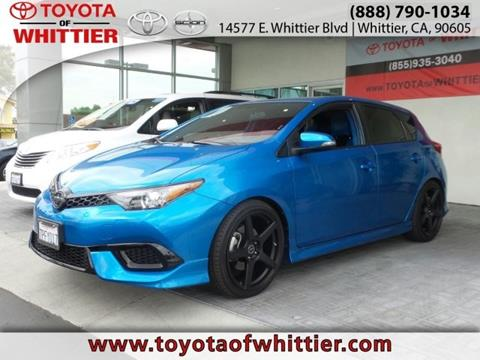 2016 Scion iM for sale in Whittier, CA