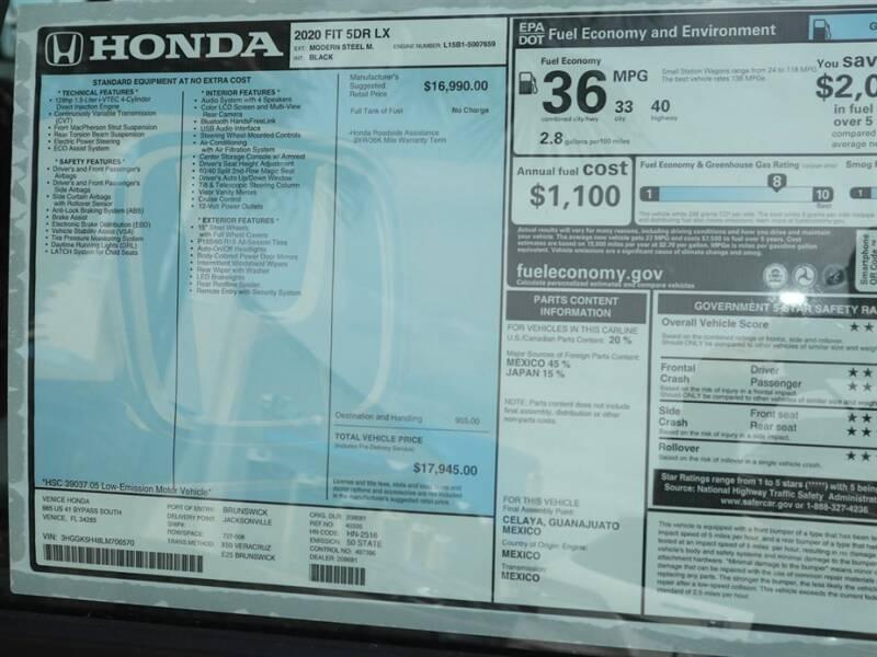 2020 Honda Fit LX (image 11)