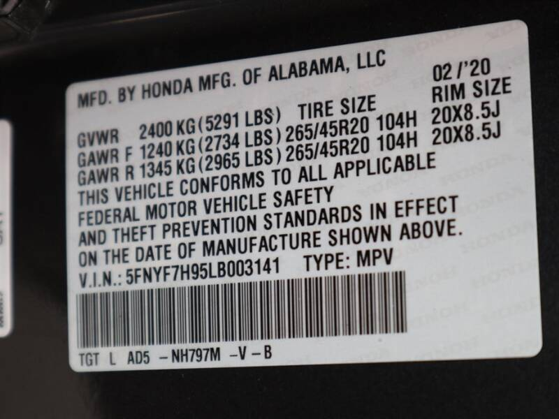 2020 Honda Passport Touring (image 12)