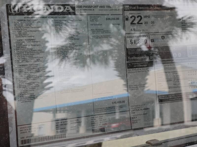 2020 Honda Passport Touring (image 11)