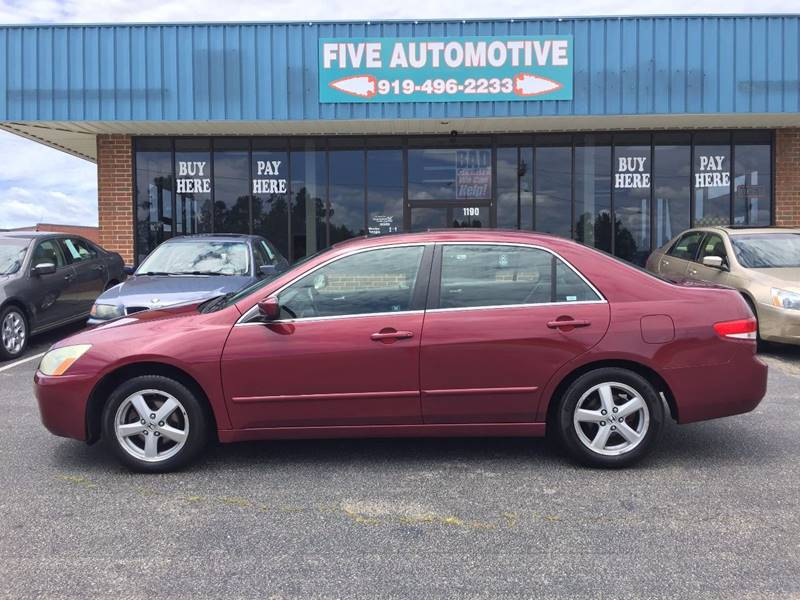 2003 Honda Accord For Sale At Five Automotive In Louisburg NC