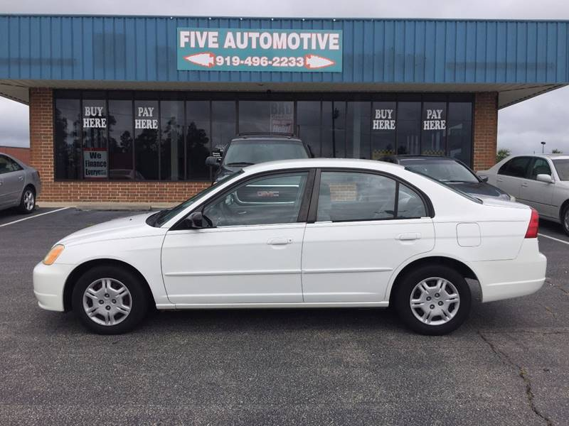 Exceptional 2002 Honda Civic For Sale At Five Automotive In Louisburg NC