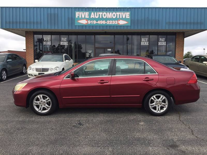 2006 Honda Accord For Sale At Five Automotive In Louisburg NC
