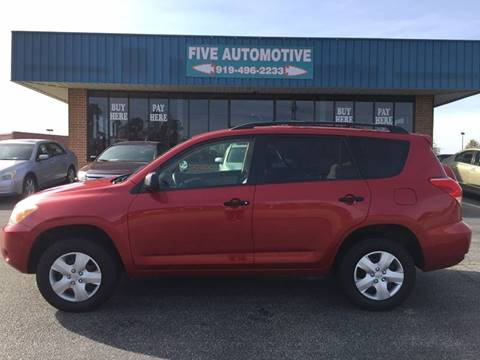 2008 Toyota Rav4 For Sale >> Toyota Rav4 For Sale In Louisburg Nc Five Automotive