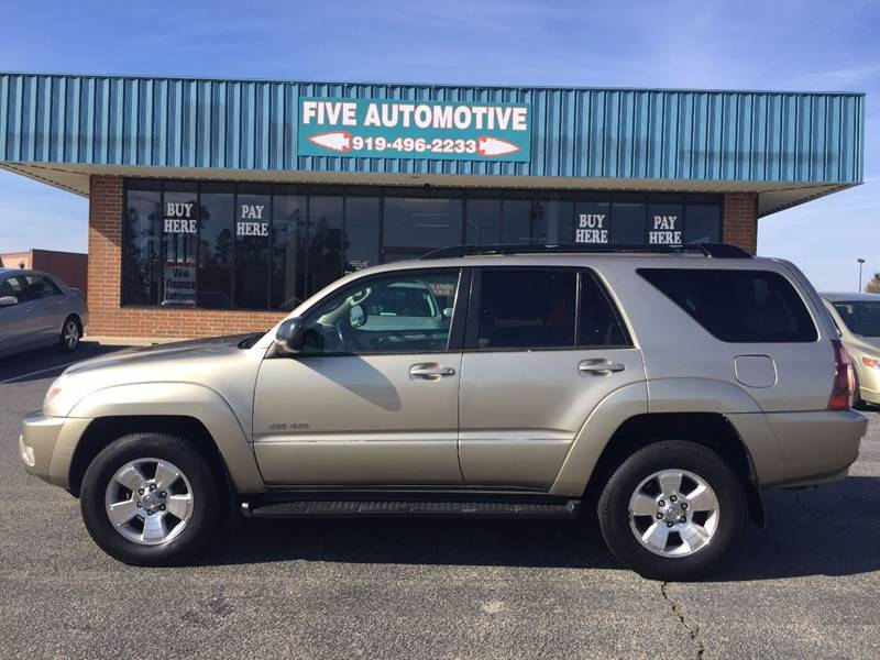 2005 Toyota 4Runner For Sale At Five Automotive In Louisburg NC