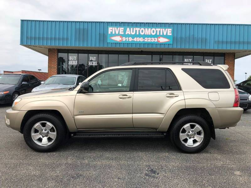 2004 Toyota 4Runner For Sale At Five Automotive In Louisburg NC