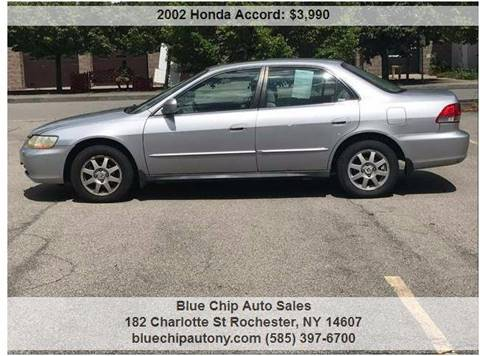 2002 Honda Accord for sale at Blue Chip Auto Sales in Rochester NY