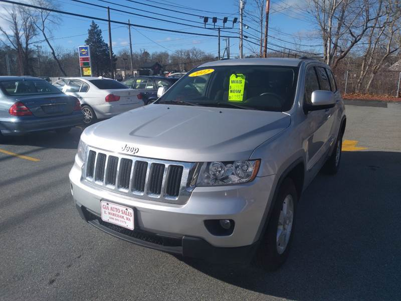 2012 Jeep Grand Cherokee for sale at Gia Auto Sales in East Wareham MA