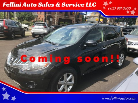 2010 Nissan Murano for sale at Fellini Auto Sales & Service LLC in Pittsburgh PA
