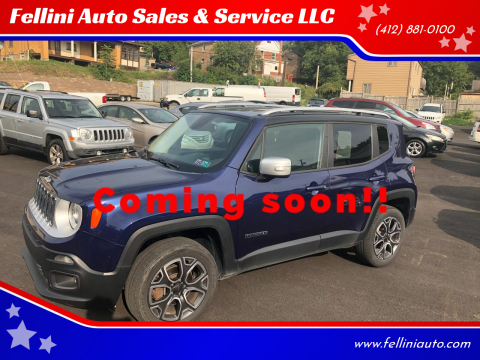 2016 Jeep Renegade for sale at Fellini Auto Sales & Service LLC in Pittsburgh PA