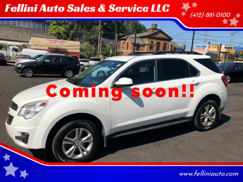 2013 Chevrolet Equinox for sale at Fellini Auto Sales & Service LLC in Pittsburgh PA