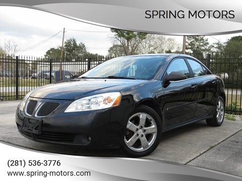 2006 Pontiac G6 for sale in Spring, TX