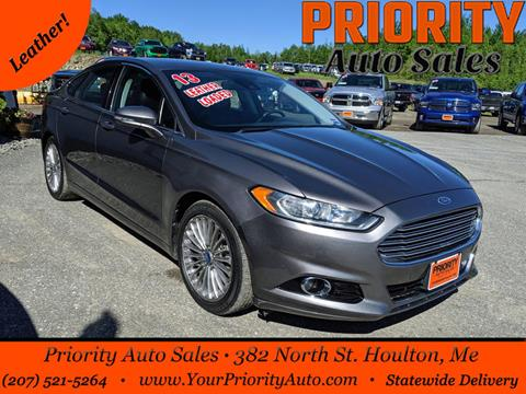 2013 Ford Fusion for sale in Houlton, ME
