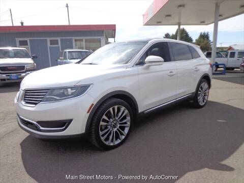 2016 Lincoln MKX Reserve for sale at MAIN STREET MOTORS in Enterprise OR