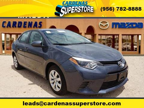 2016 Toyota Corolla for sale at Cardenas Superstore in Pharr TX