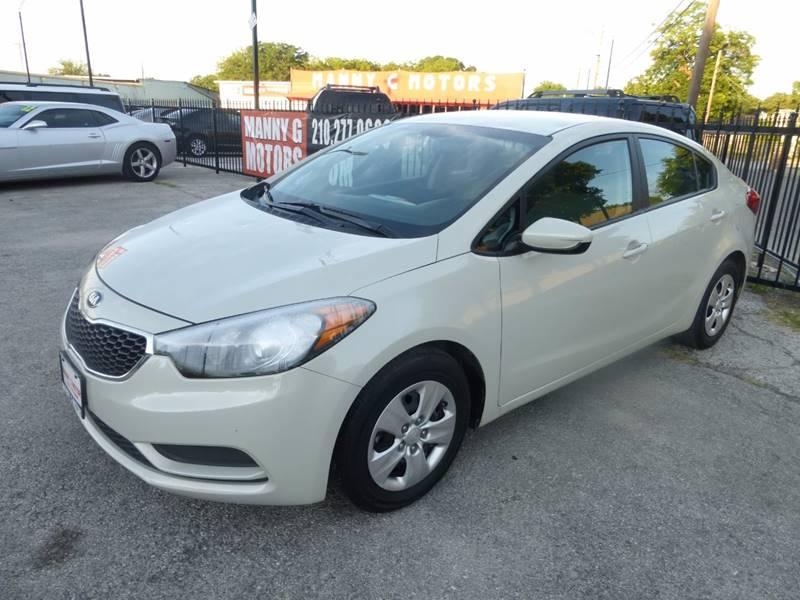 2015 Kia Forte for sale at Manny G Motors in San Antonio TX