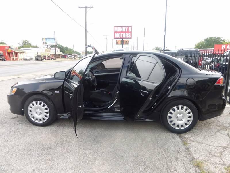 2015 Mitsubishi Lancer for sale at Manny G Motors in San Antonio TX