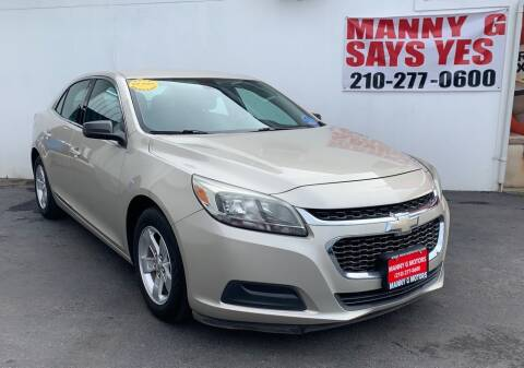 2015 Chevrolet Malibu for sale at Manny G Motors in San Antonio TX