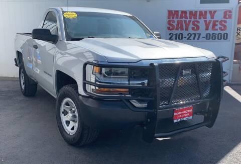 2016 Chevrolet Silverado 1500 for sale at Manny G Motors in San Antonio TX