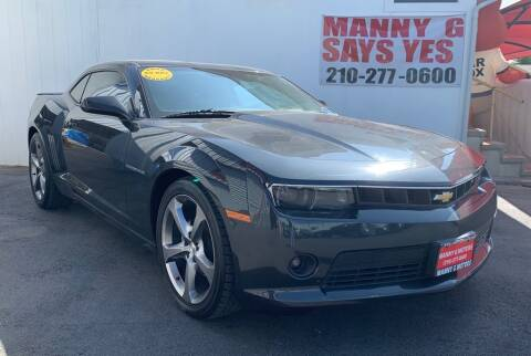2014 Chevrolet Camaro for sale at Manny G Motors in San Antonio TX