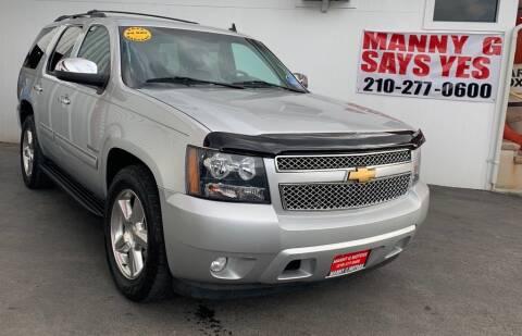 2014 Chevrolet Tahoe for sale at Manny G Motors in San Antonio TX
