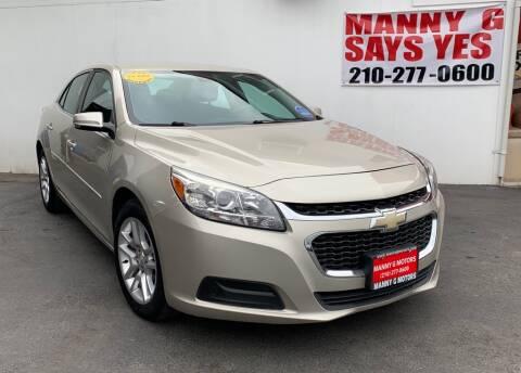 2015 Chevrolet Malibu for sale at Manny G Motors in San Antonio TX