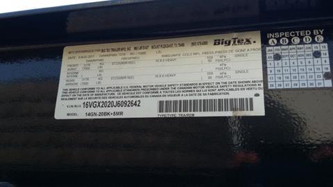 2018 Big Tex 14GN-20BK+5MR