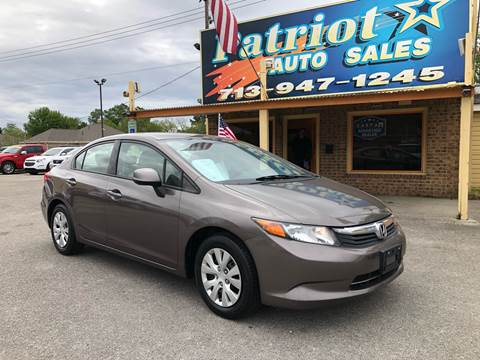 2012 Honda Civic for sale in South Houston, TX