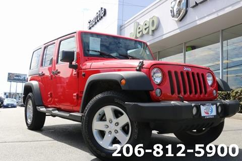 2016 Jeep Wrangler Unlimited for sale in Seattle, WA