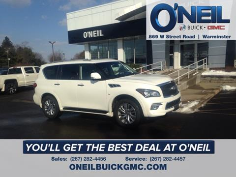 2017 Infiniti QX80 for sale in Warminster, PA