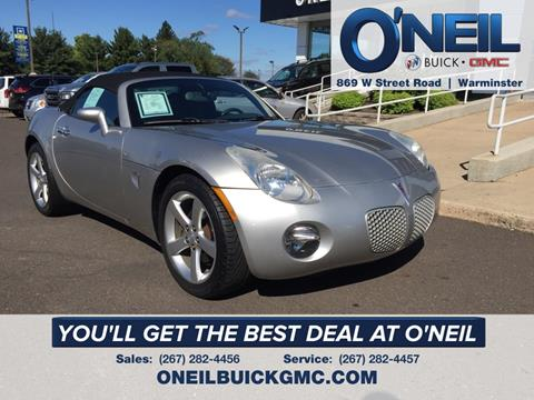 2008 Pontiac Solstice for sale in Warminster, PA