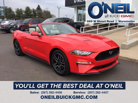 2019 Ford Mustang for sale in Warminster, PA