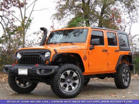 2012 Jeep Wrangler Unlimited for sale in Tyler, TX