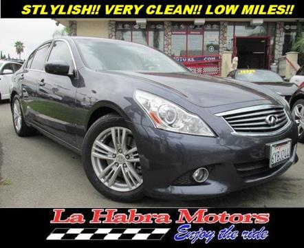 2012 Infiniti G37 Sedan for sale in La Habra CA