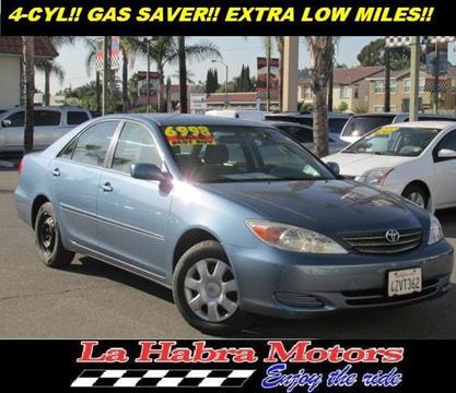 2003 Toyota Camry for sale in La Habra CA