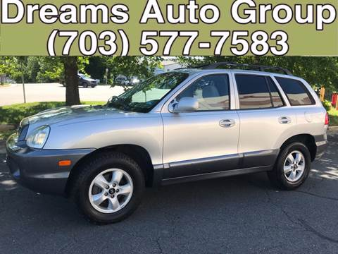 2005 Hyundai Santa Fe for sale at Dreams Auto Group LLC in Sterling VA