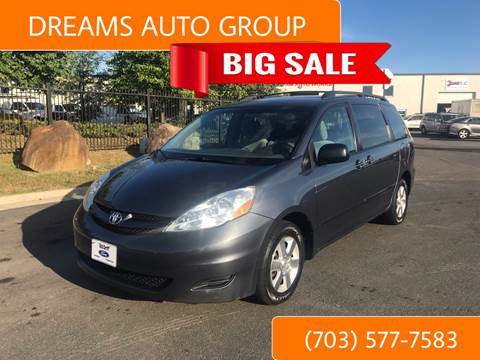 2010 Toyota Sienna for sale at Dreams Auto Group LLC in Sterling VA