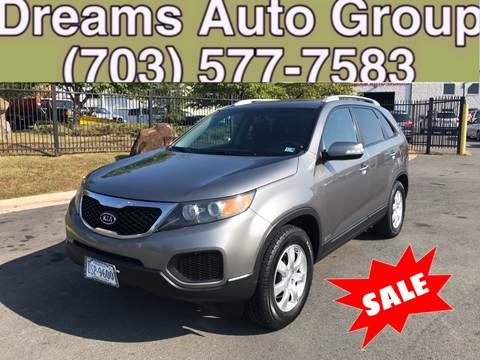 2012 Kia Sorento for sale at Dreams Auto Group LLC in Sterling VA